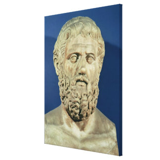 Bust of Sophocles Canvas Print