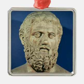 Bust of Sophocles Metal Ornament
