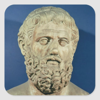 Bust of Sophocles Square Sticker