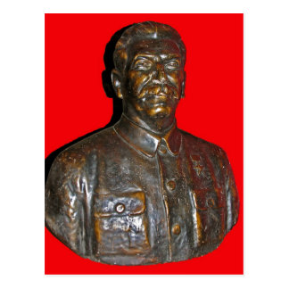 Bust of Stalin Postcard
