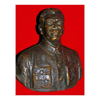 Bust of Stalin Poster