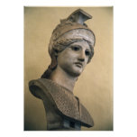 Bust of the Goddess Athena Poster