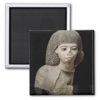 Bust of the Royal Scribe, Meniou, New Kingdom 2 Inch Square Magnet