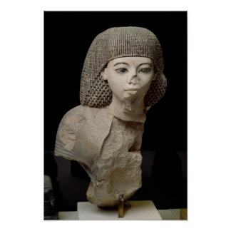 Bust of the Royal Scribe, Meniou, New Kingdom Poster