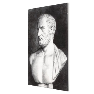 Bust of Thucydides , engraved by Barbant Gallery Wrap Canvas