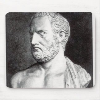 Bust of Thucydides , engraved by Barbant Mouse Pad