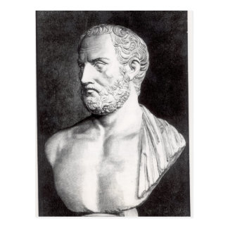 Bust of Thucydides , engraved by Barbant Postcard
