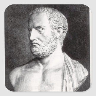 Bust of Thucydides , engraved by Barbant Square Sticker