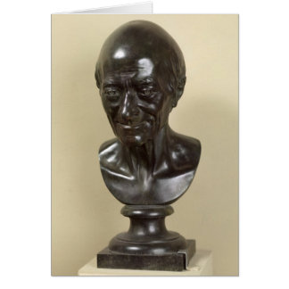 Bust of Voltaire  1778 Greeting Card