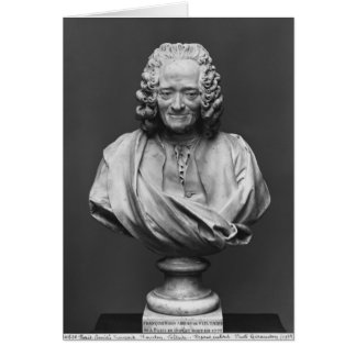 Bust of Voltaire Greeting Card