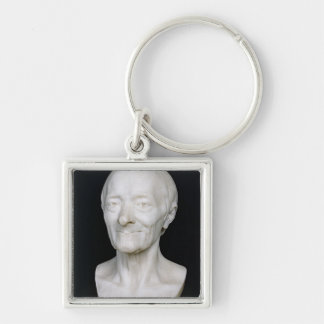 Bust of Voltaire  without his wig, 1778 Keychain