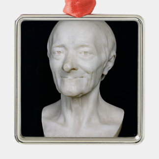 Bust of Voltaire  without his wig, 1778 Metal Ornament