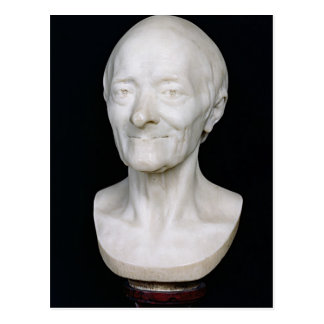 Bust of Voltaire  without his wig, 1778 Postcard