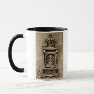 Bust of William Shakespeare (1564-1616) and inscri Mug