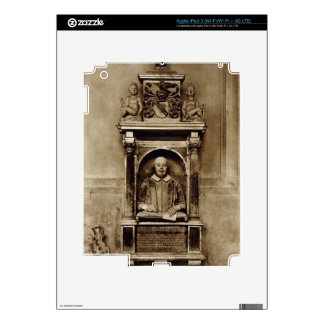 Bust of William Shakespeare (1564-1616) and inscri Skins For iPad 3