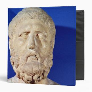 Bust of Zeno of Citium 3 Ring Binder