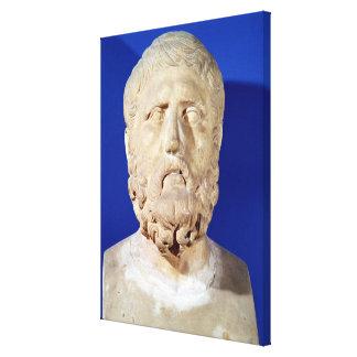 Bust of Zeno of Citium Canvas Prints
