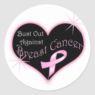 Bust Out Against Breast Cancer Classic Round Sticker