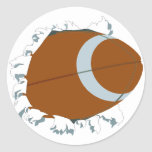 Bust Out Football Round Stickers