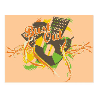 Bust Out Music T-shirts and Gifts Postcard