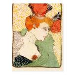 Bust portrait by Toulouse-Lautrec Postcard