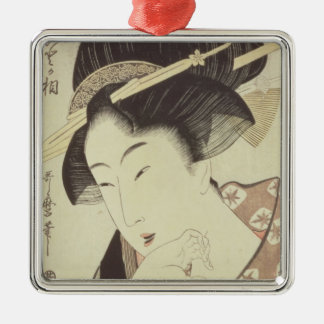 Bust portrait of the heroine Kioto of the Itoya Square Metal Christmas Ornament
