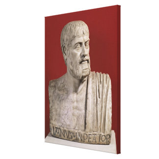 Bust presumed to be Flavius Claudius Julianus Stretched Canvas Prints