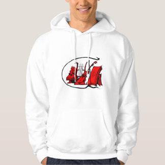 bust red lyre violin sheet music design.png hoodie