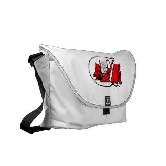 bust red lyre violin sheet music design.png messenger bag