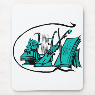 bust teal lyre violin sheet music design.png mouse pad