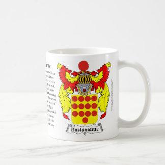 Bustamante, el origen, el significado y el escudo taza de café