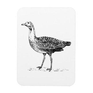 Bustard Bird Sketch Flexible Magnets