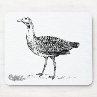 Bustard Bird Sketch Mouse Pad