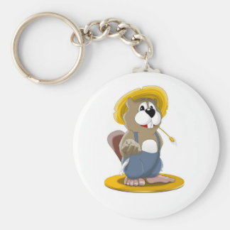 Busted Beaver Keychain