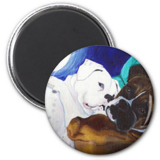 Busted Boxers 2 Inch Round Magnet