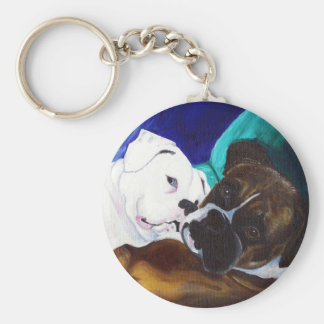 Busted Boxers Basic Round Button Keychain
