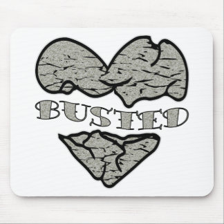 Busted Heart Stone Tattoo Mousepads
