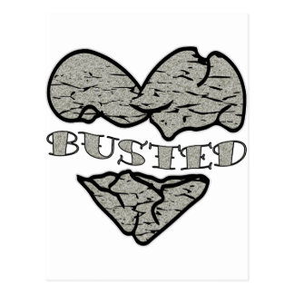 Busted Heart Stone Tattoo Postcard