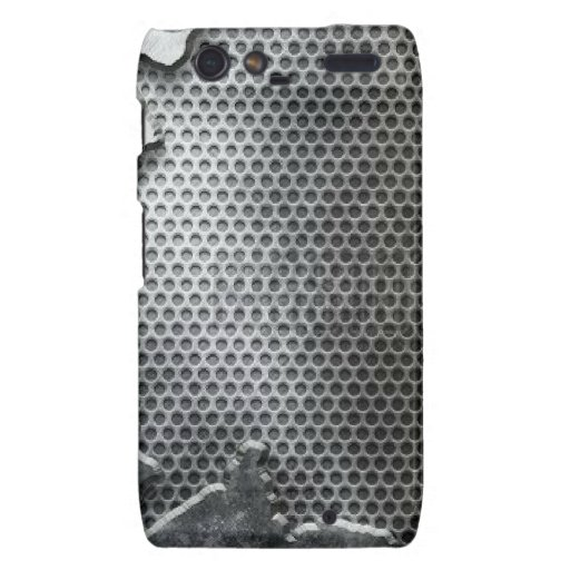 Busted Metal / Chrome Speaker - Mean and Manly Droid RAZR Cases