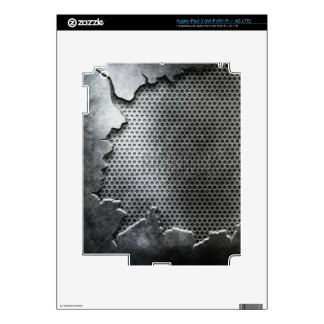 Busted Metal / Chrome Speaker - Mean and Manly Decal For iPad 3