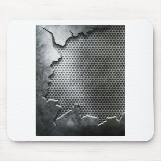 Busted Metal / Chrome Speaker - Mean and Manly Mouse Pad