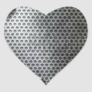 Busted Metal / Chrome Speaker - Mean and Manly Heart Sticker
