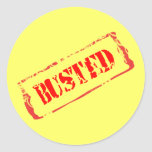 Busted Round Sticker