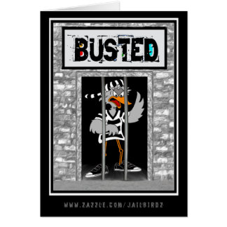 Busted Thinking of you obviously Greeting Card