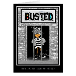 """Busted: """"Thinking of you...obviously."""" Greeting Card"""
