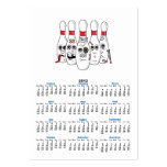 busted up injured bowling pins cartoon business card template