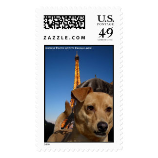 Buster in Paris Postage Stamps