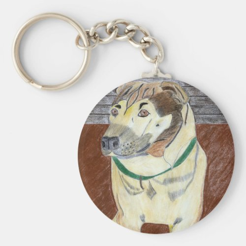 Buster On The Deck Key Chain