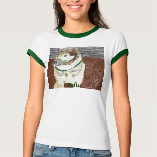 Buster On The Deck T-Shirt by Julia Hanna shirt