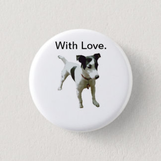 Buster wih Love. Button